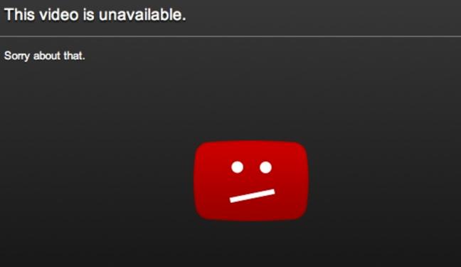 Videos youtube borrado